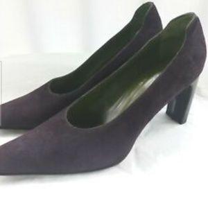 Donald J Pliner Women's Purple Suede Heels 10.5 M